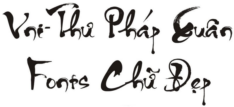 Hình font chữ thư pháp trong Word
