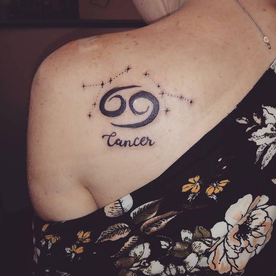 Hình tattoo cho nữ về cung Cự Giải