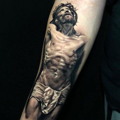Hình tattoo chúa giêsu đẹp mê