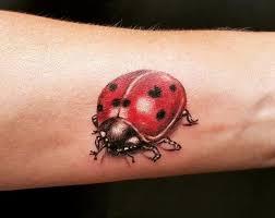 Hình tattoo con bọ rùa 3d giống như thật