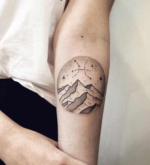 Hình tattoo đơn giản mà đẹp cho những người thuộc cung song ngư