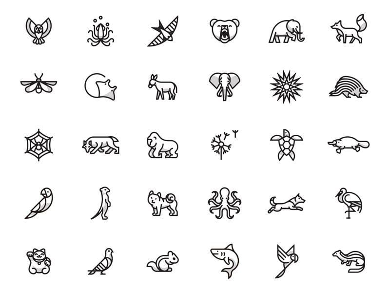 Hình tattoo icon dễ thương về các con vật