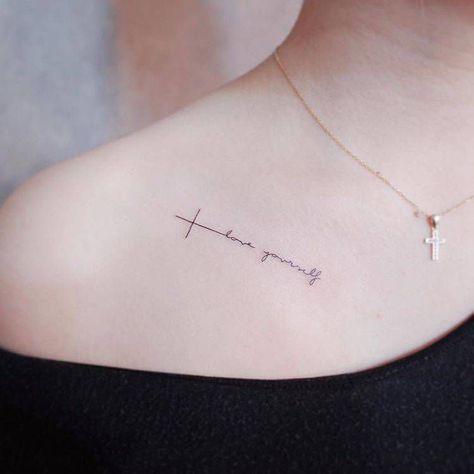 Hình tattoo love yourself mini nhỏ xinh và cute