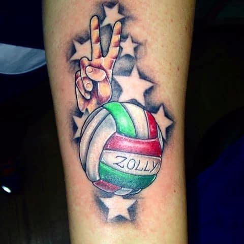 Hình tattoo nhỏ đẹp lấy cảm hứng từ quả bóng tròn
