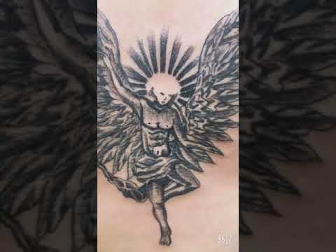 Hình tattoo thiên thần sa ngã của G Dragon