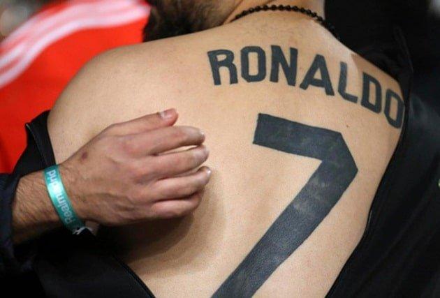Hình xăm của fan hâm mộ cầu thủ Ronaldo