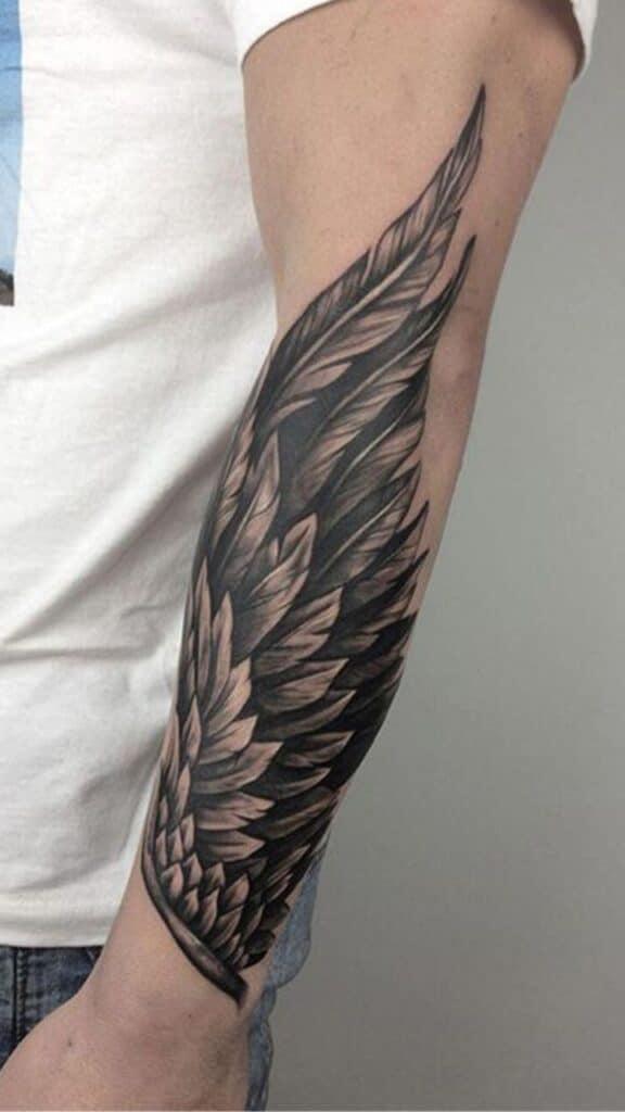 Hình xăm đôi cánh đẹp mê mẩn