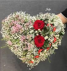 Hoa chúc mừng sinh nhật hình trái tim đẹp cho crush