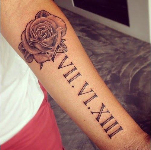 Hoa hồng và số la mã đẹp
