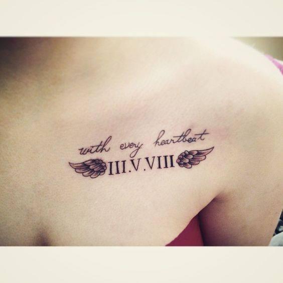 Kiểu tattoo số la mã đẹp cho nữ