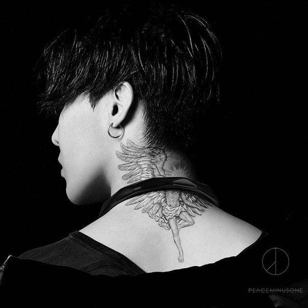 Kiểu tattoo xăm thiên thần sa ngã của G Dragon