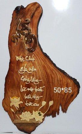 Kiểu tranh gỗ chữ Nhẫn độc đáo