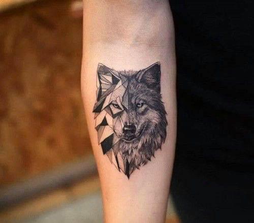 Kiểu xăm chó sói nhỏ chất lừ