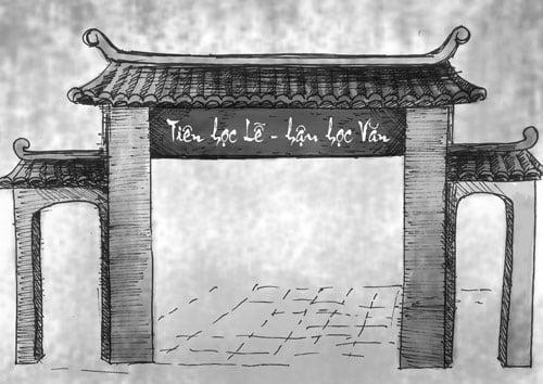 Mẫu chữ Tiên học lễ Hậu học văn