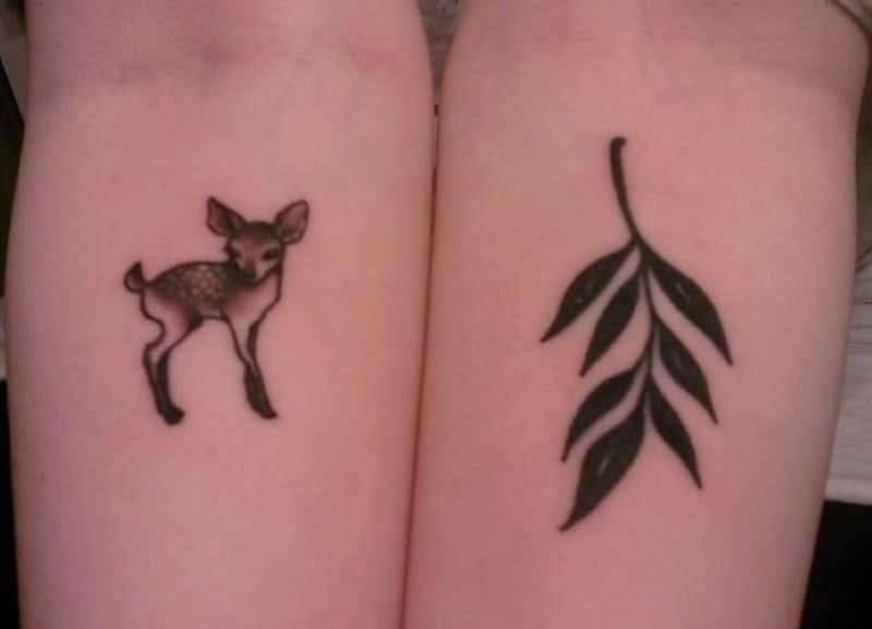Mẫu tattoo con nai cực nhỏ mini