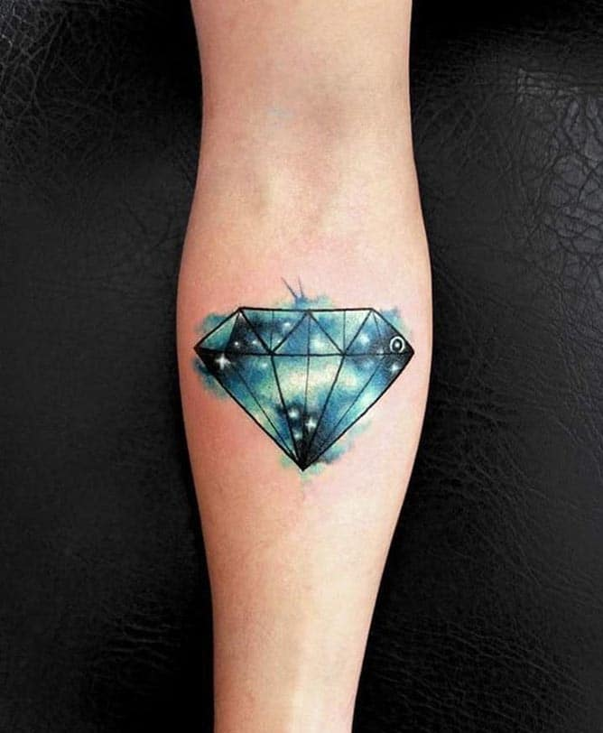 Mẫu tattoo kim cương đẹp