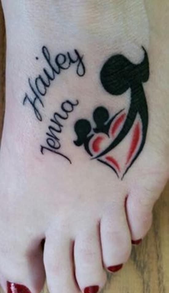 Mẫu tattoo mẹ và 2 con gái đơn giản nhưng cực ý nghĩa