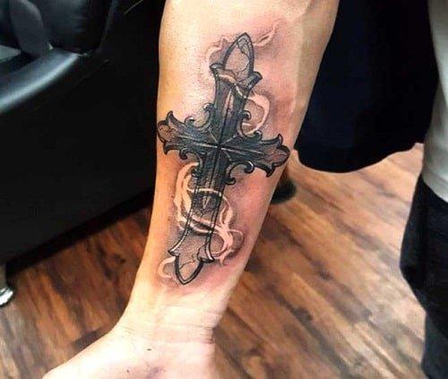 Mẫu tattoo thánh giá chất ngầu và độc đáo