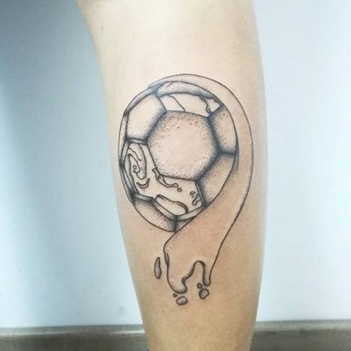 Mẫu xăm bóng đá dễ thương và ngộ nghĩnh