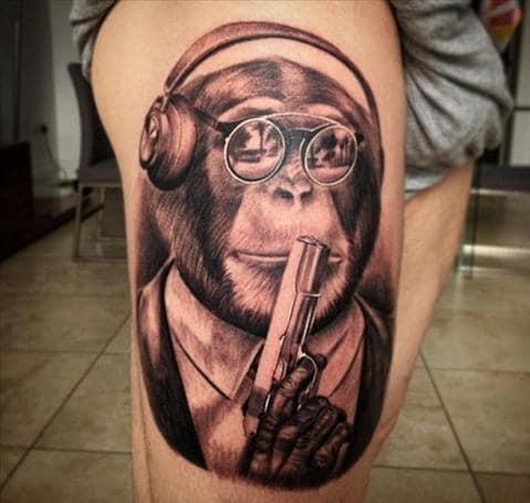 Mẫu xăm khỉ đẹp và nổi bật