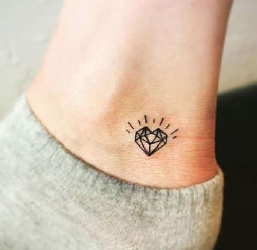 Mẫu xăm kim cương nhỏ siêu đáng yêu