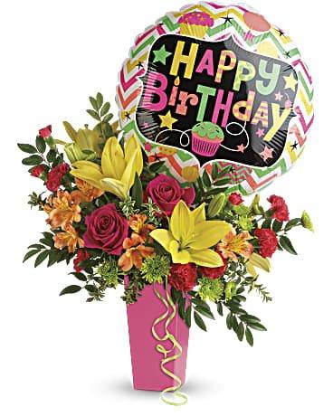 Ngọt ngào với bó hoa sinh nhật kèm lời chúc