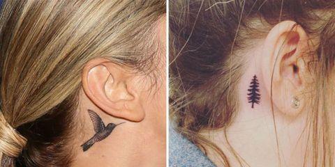 Những kiểu xăm sau tai nữ
