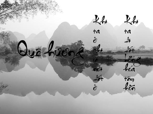 Nỗi nhớ quê hương trong lòng bộc lộ qua đôi dòng câu thơ
