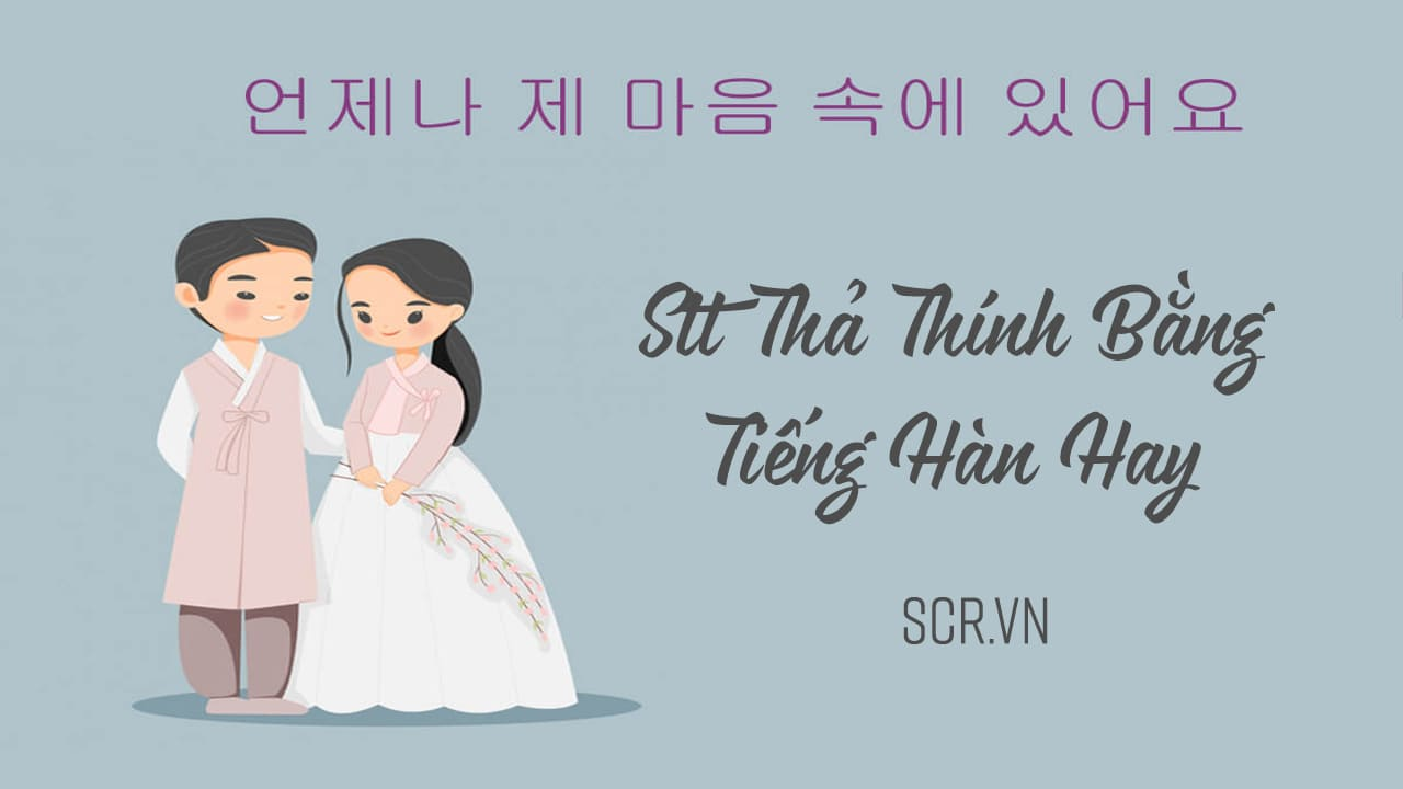Stt Thả Thính Bằng Tiếng Hàn