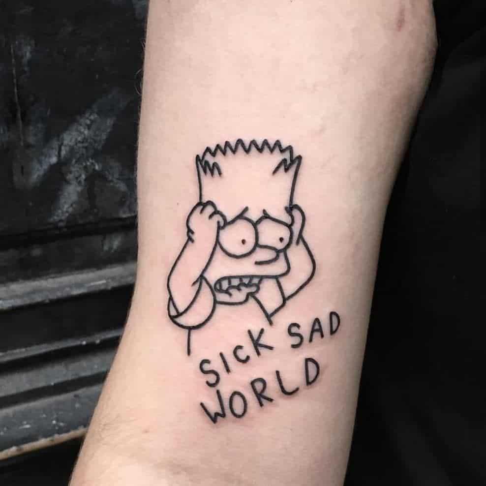Tattoo buồn tình chất nhất