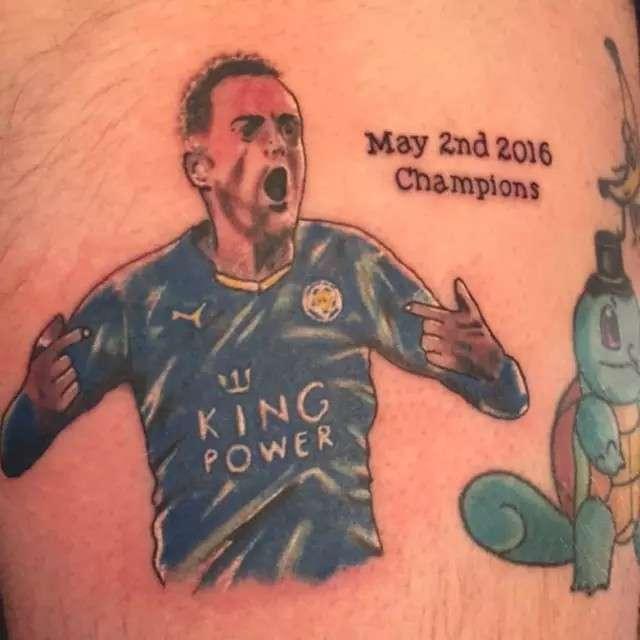 Tattoo cầu thủ Jamie Vardy