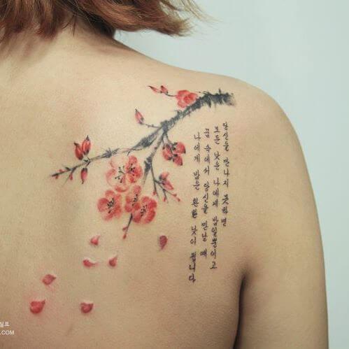 Tattoo chữ cho mệnh Hỏa