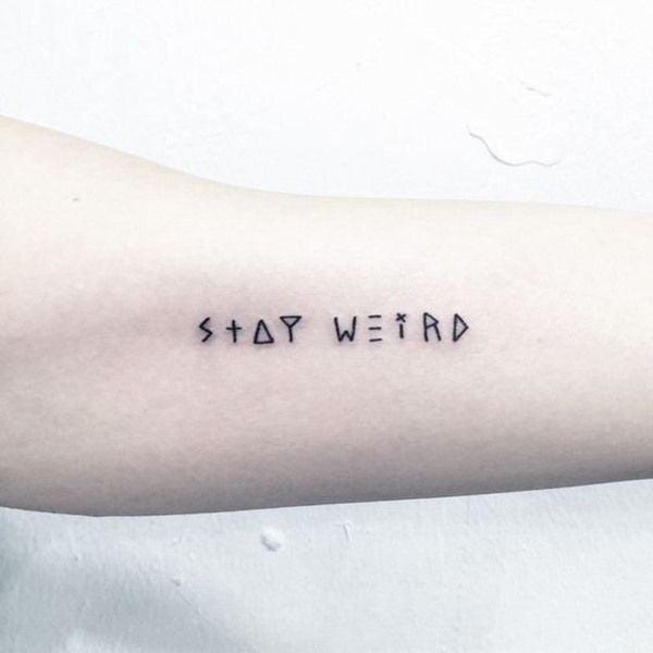 Tattoo chữ kiểu siêu cute và đáng yêu