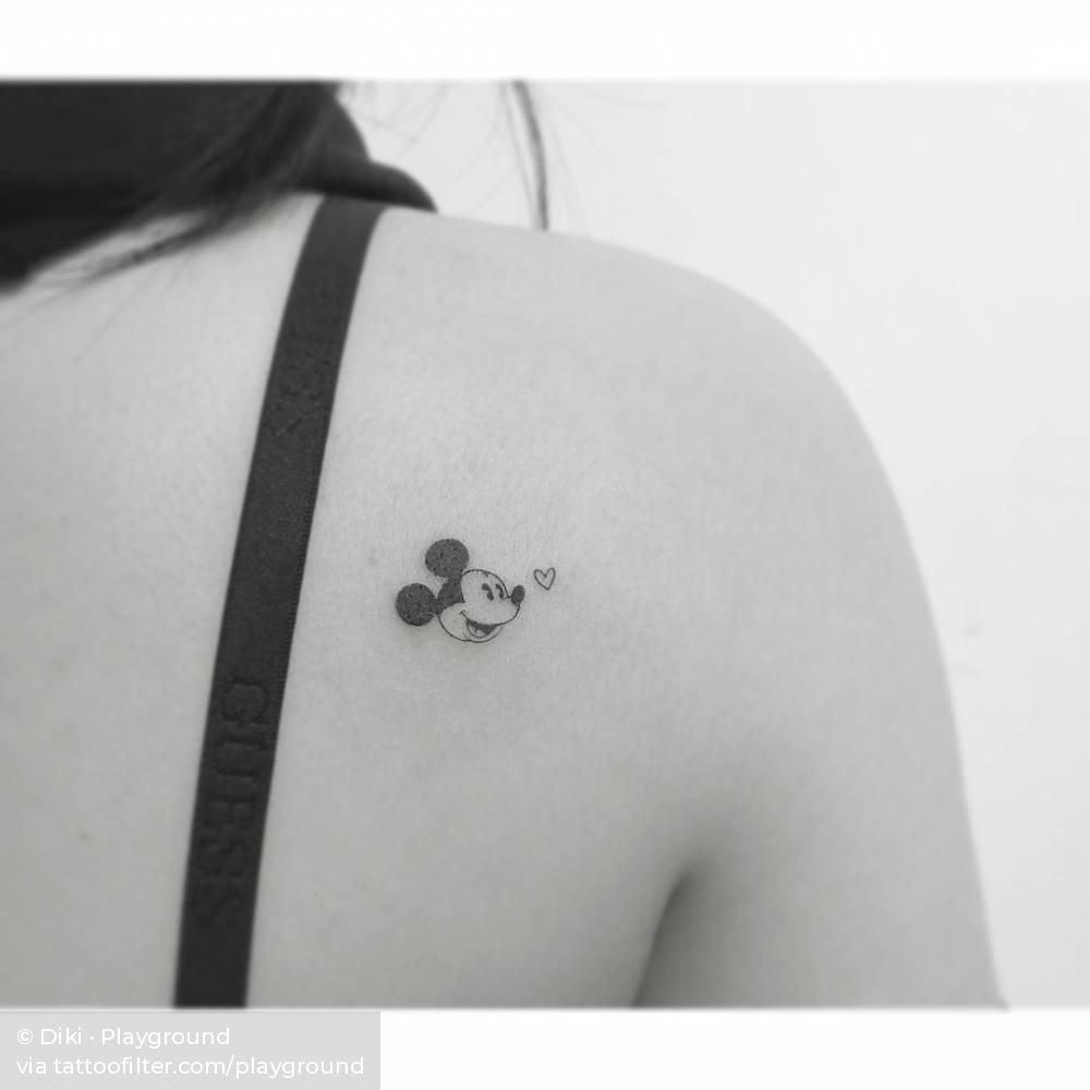 Tattoo chuột Mickey nhỏ xinh mini cute