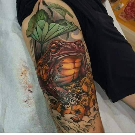 Tattoo con cóc thần tài đẹp nhất