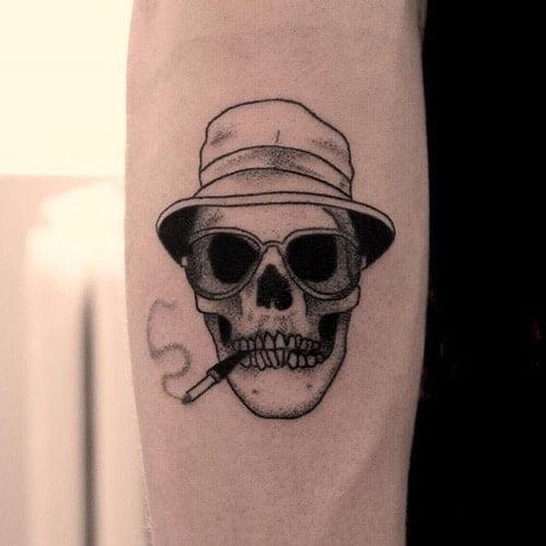 Tattoo đầu lâu mini chất cho phái mạnh