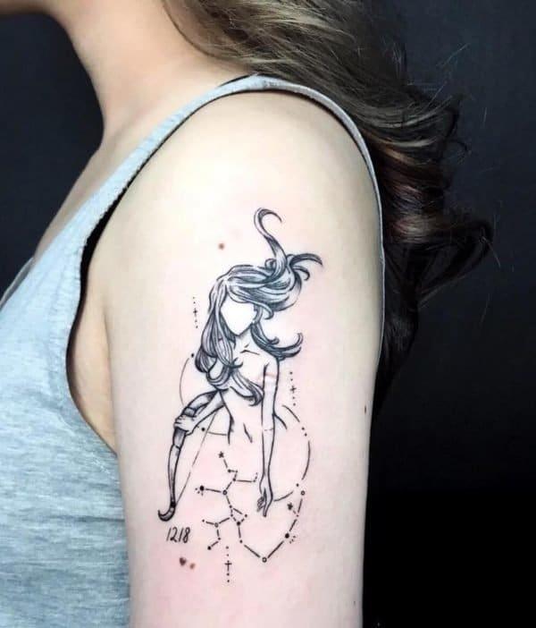 Tattoo dễ thương cho cung Nhân Mã