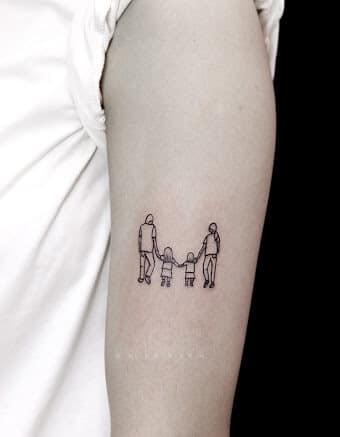 Tattoo gia đình mini dễ thương