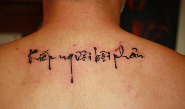 Tattoo hận người tôi yêu