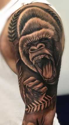 Tattoo khỉ 3d cuốn hút