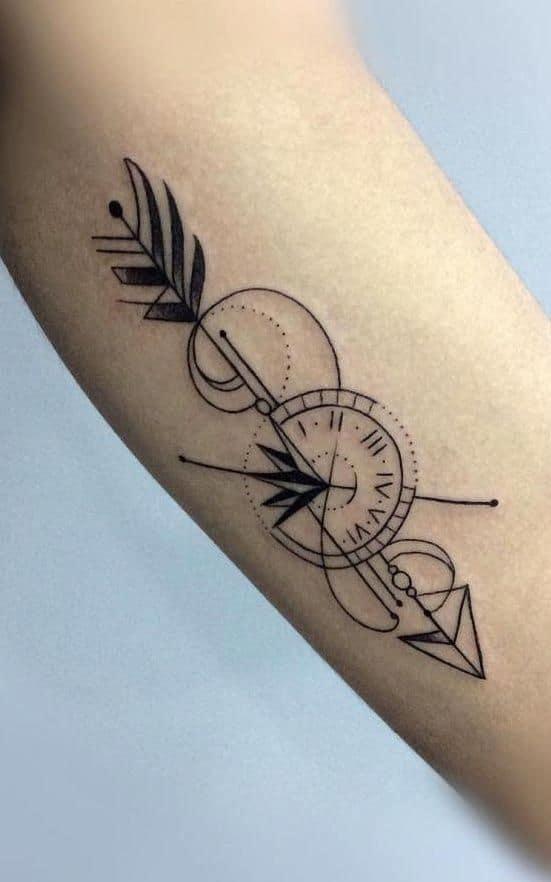 Tattoo mũi tên ở tay đẹp và ấn tượng