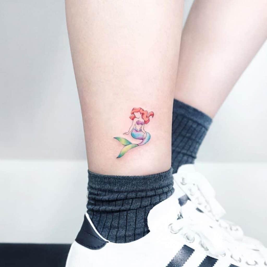 Tattoo nàng tiên cá nhỏ và cute