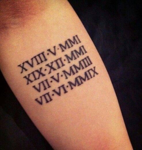 Tattoo số la mã 2001