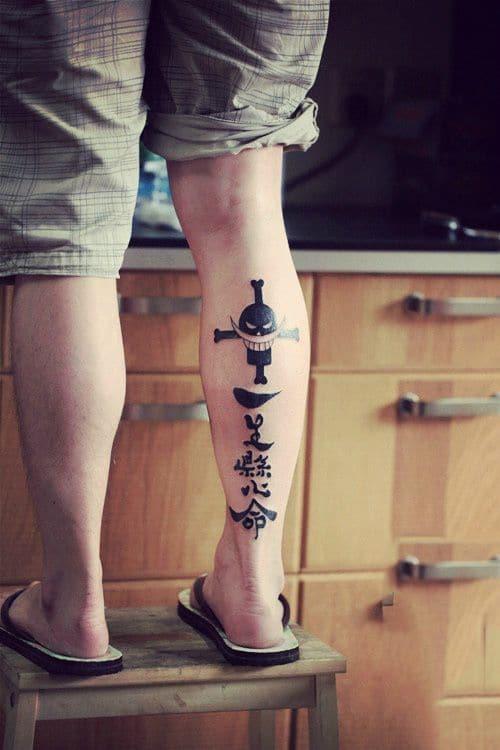 Tattoo xăm băng hải tặc râu trắng chaats