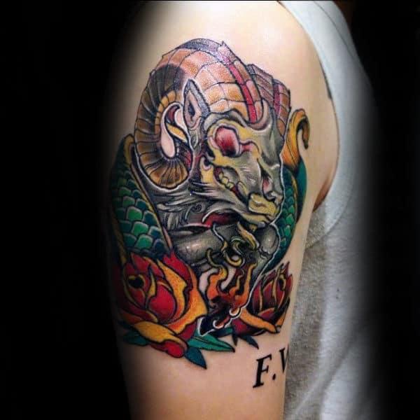 Tattoo xăm cung Ma Kết đẹp ý nghĩa