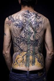 Xăm cây tre cây trúc kín bít lưng