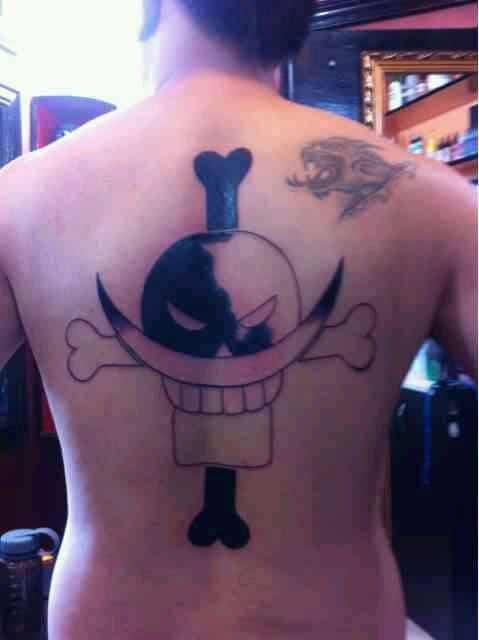 Xăm tattoo băng hải tặc râu trắng