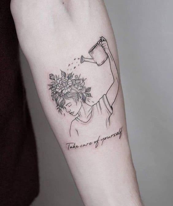 kiểu hình tattoo hài hước bá đạo nhìn là bật cười