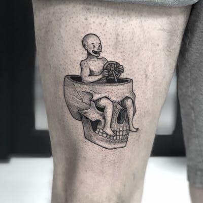 mẫu hình tattoo hài hước mini