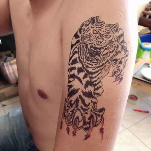 mẫu hình tattoo hổ xấu và hài